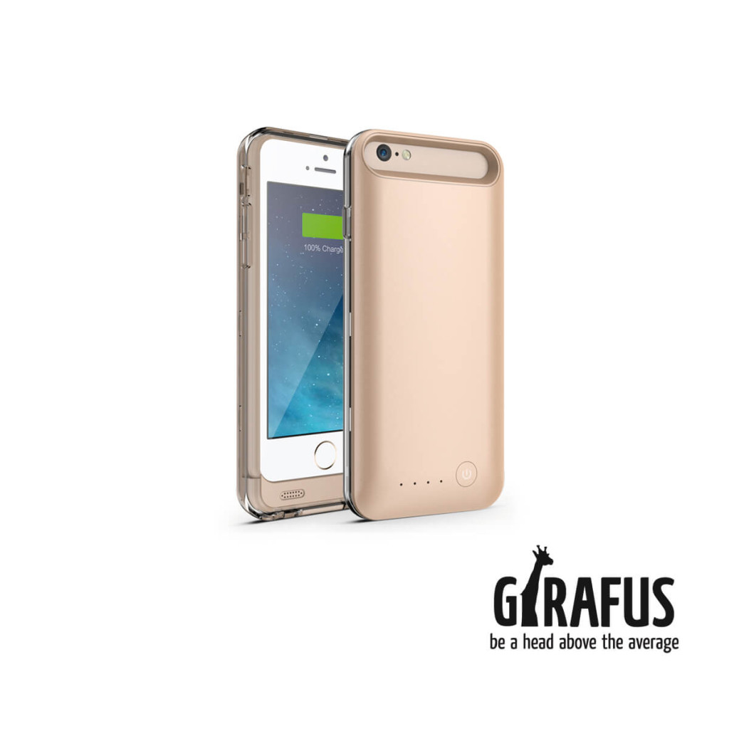 Girafus Iphone 6/6S 3100mAh externe batterie akku cover gold-bild01