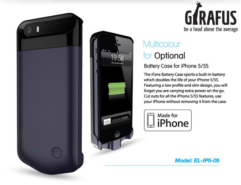 girafus iphone5 power case-X5 2200mAh