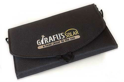 Girafus Lunó Universal Outdoor Solar Charger for Smartphone GPS iPhone iPod iPad Tablet Samsung, HTC, Nokia with inside Pocket